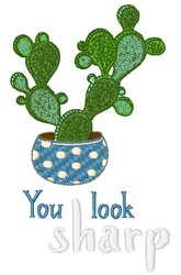 You Look Sharp embroidery design