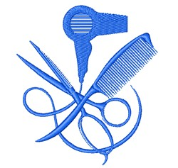 Beautician Equipment embroidery design