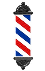 Barber Pole embroidery design
