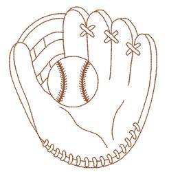 Ball & Glove embroidery design