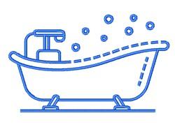 Bath Tub embroidery design