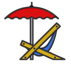 Umbrella & Chair embroidery design