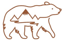 Mountain Bear embroidery design