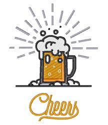Cheers Beer embroidery design
