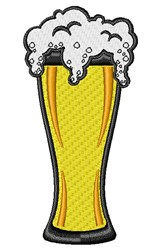 Beer Glass embroidery design