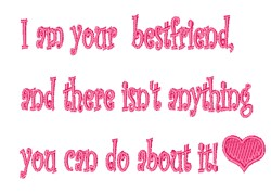 Your Bestfriend embroidery design