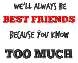 Always Best Friends embroidery design