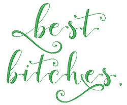 Best Bitches embroidery design