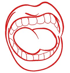 Mouth Outline embroidery design