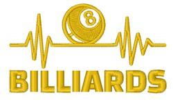 Biilliards 8 Ball embroidery design