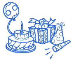 Birthday Party embroidery design