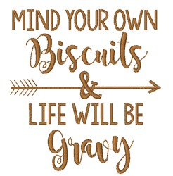 Mind Your Biscuits embroidery design