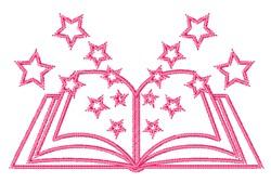 Star Book embroidery design