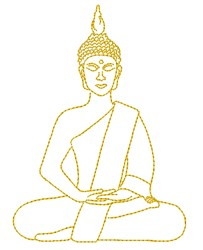Buddha Outline embroidery design