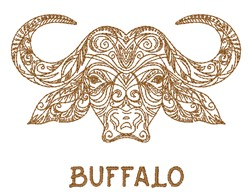 Buffalo Head embroidery design