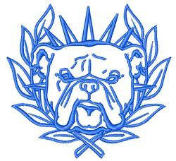 Bull Dog embroidery design