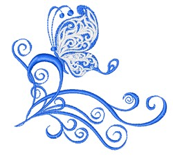 Butterfly Swirls embroidery design
