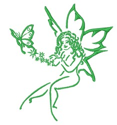 Butterfly Fairy embroidery design