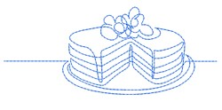Cake Outline embroidery design
