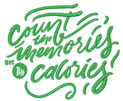 Count Memories embroidery design