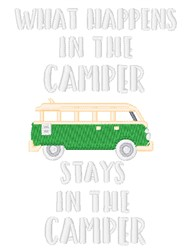 In The Camper embroidery design