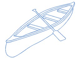 Canoe Outline embroidery design