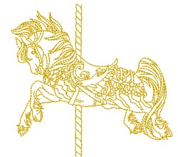 Carousel Horse Outline embroidery design