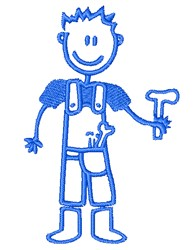 Boy With Tools embroidery design