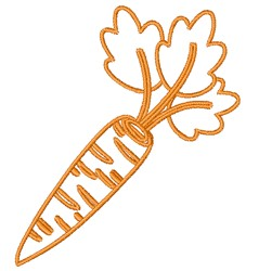 Carrot Outline embroidery design