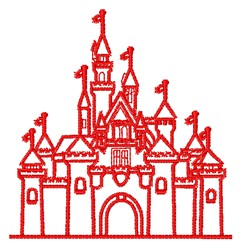 Castle Outline embroidery design