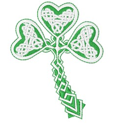 Irish Shamrock embroidery design