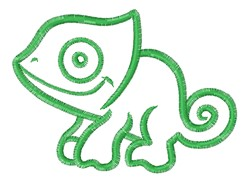 Chameleon Outline embroidery design