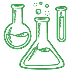Science Beakers embroidery design
