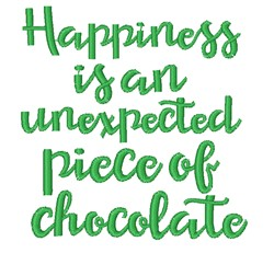 Happiness Is Chocolate embroidery design