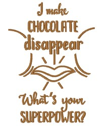 Chocolate Superpower embroidery design