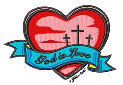 God Is Love embroidery design