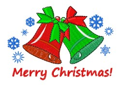Merry Christmas Bells embroidery design