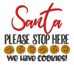 We Have Cookies embroidery design