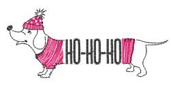 Ho Ho Ho Dog embroidery design