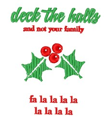 Deck The Halls embroidery design
