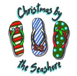 Seashore Christmas embroidery design
