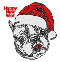 New Year Dog embroidery design