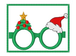 Christmas Glasses embroidery design