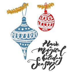 Magical Holiday embroidery design