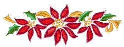 Christmas Poinsettia Swag embroidery design