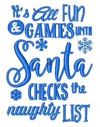 All Fun & Games embroidery design