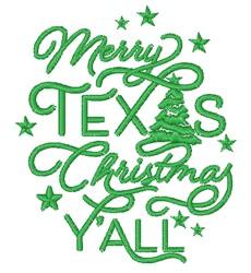 Merry Texas Christmas YAll embroidery design