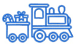 Bluework Christmas Train embroidery design