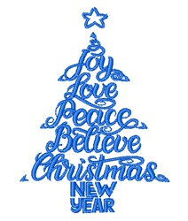 Christmas Wishes embroidery design