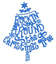 Rockin Around The Christmas Tree embroidery design